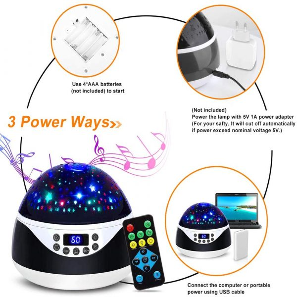 Rotating Projector Night Light with Music for Children's Bedroom_9