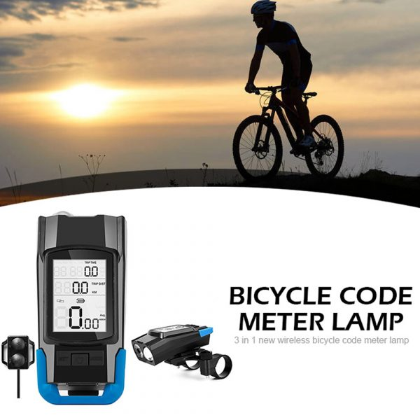 3-in-1 Bicycle Speedometer Rechargeable T6 LED Bike Light_19