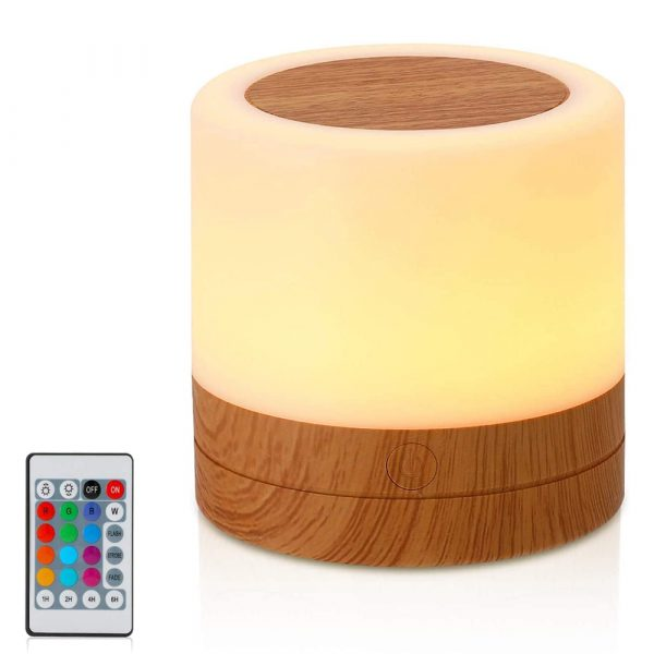 Rechargeable Portable Remote Controlled Touch Lamp Night Light_1
