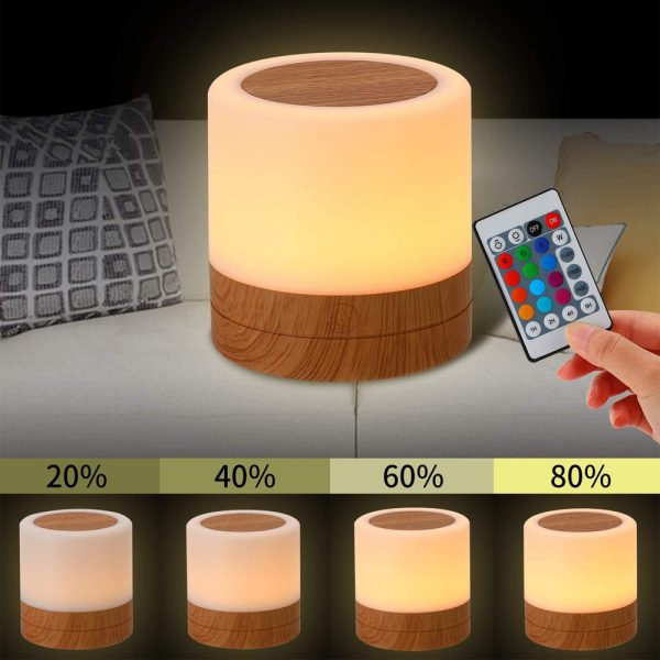 Rechargeable Portable Remote Controlled Touch Lamp Night Light_5