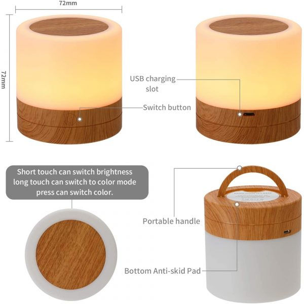 Rechargeable Portable Remote Controlled Touch Lamp Night Light_7