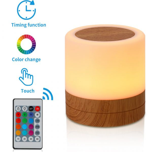 Rechargeable Portable Remote Controlled Touch Lamp Night Light_3