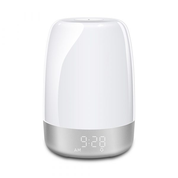 Dimmable Bedside Touch Night Light with Alarm Clock Function_2