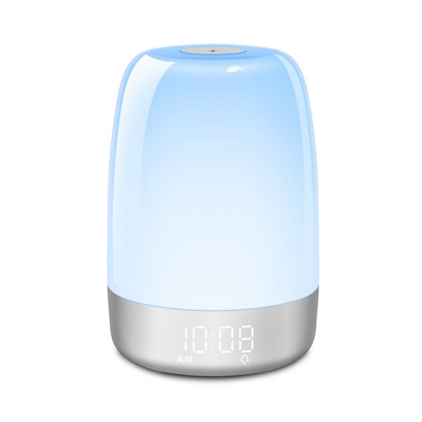 Dimmable Bedside Touch Night Light with Alarm Clock Function_5