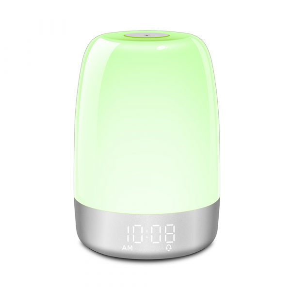 Dimmable Bedside Touch Night Light with Alarm Clock Function_6