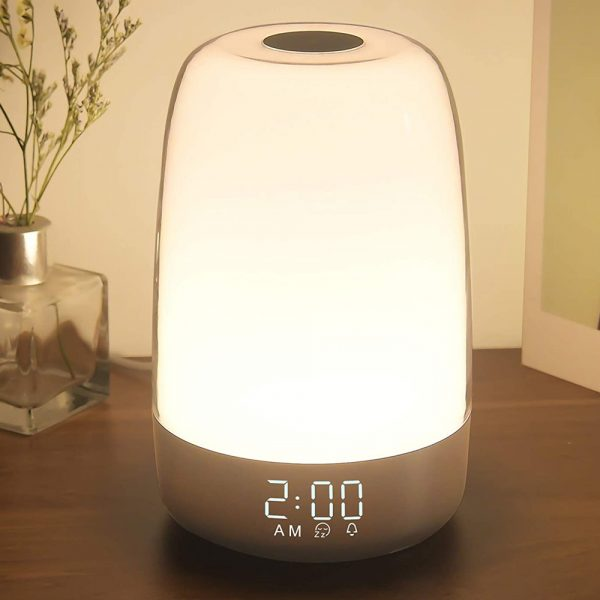 Dimmable Bedside Touch Night Light with Alarm Clock Function_7