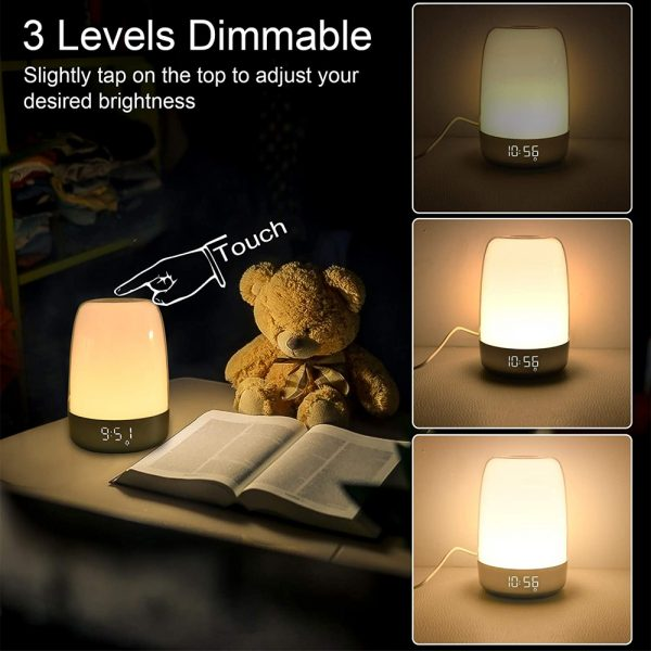 Dimmable Bedside Touch Night Light with Alarm Clock Function_16