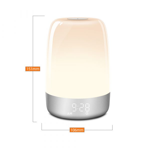 Dimmable Bedside Touch Night Light with Alarm Clock Function_17