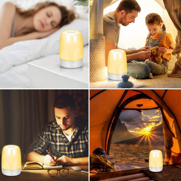 Dimmable Bedside Touch Night Light with Alarm Clock Function_18