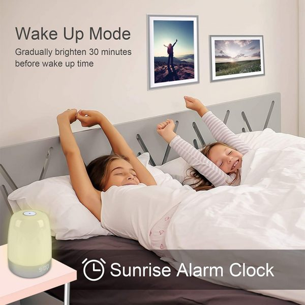 Dimmable Bedside Touch Night Light with Alarm Clock Function_8