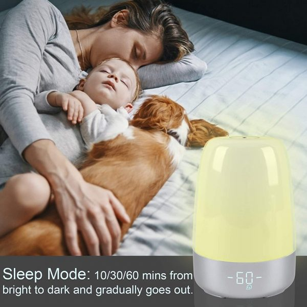 Dimmable Bedside Touch Night Light with Alarm Clock Function_9