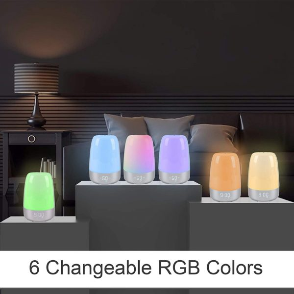 Dimmable Bedside Touch Night Light with Alarm Clock Function_11