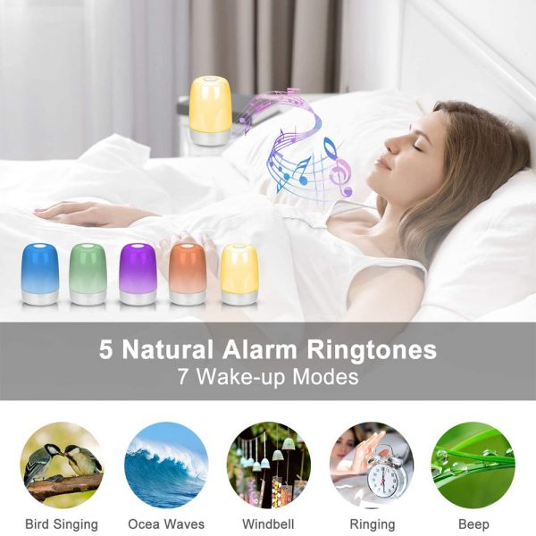 Dimmable Bedside Touch Night Light with Alarm Clock Function_12