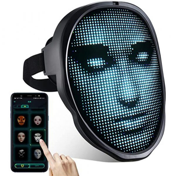 LED Face Transforming Luminous Face Mask for Halloween and Parties_0