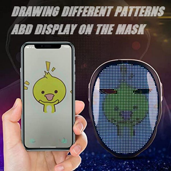 LED Face Transforming Luminous Face Mask for Halloween and Parties_5