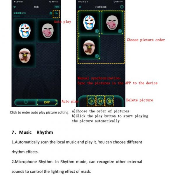 LED Face Transforming Luminous Face Mask for Halloween and Parties_20