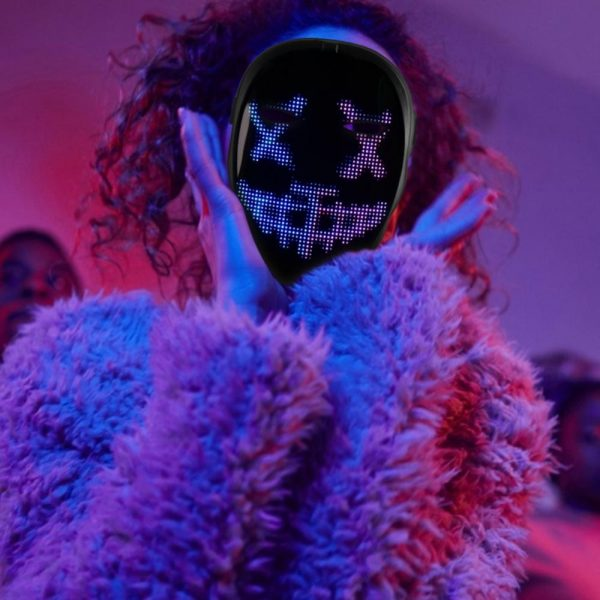 LED Face Transforming Luminous Face Mask for Halloween and Parties_6