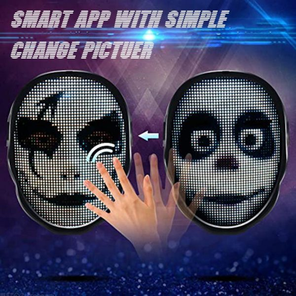 LED Face Transforming Luminous Face Mask for Halloween and Parties_7