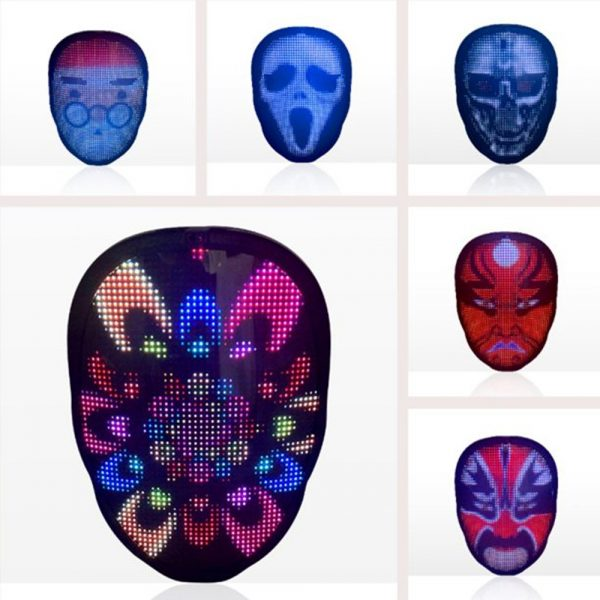 LED Face Transforming Luminous Face Mask for Halloween and Parties_8