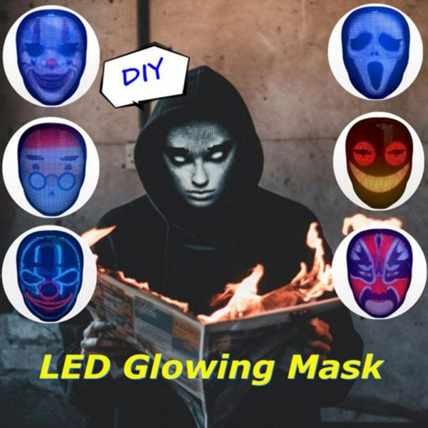 LED Face Transforming Luminous Face Mask for Halloween and Parties_9