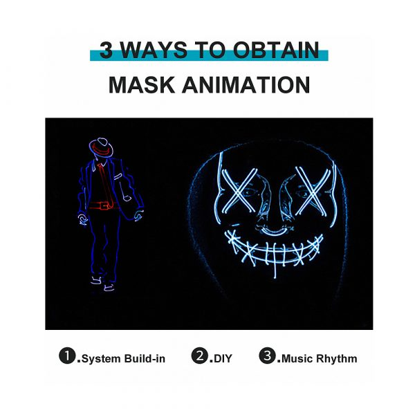 LED Face Transforming Luminous Face Mask for Halloween and Parties_13
