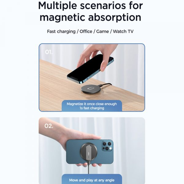 Fast Charging Wireless Magnetic Charger for iPhone 12 Series_8