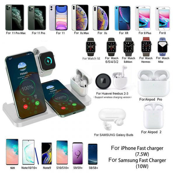 4-in-1 Wireless Fast Charging Desktop Charging Station for QI Devices_3