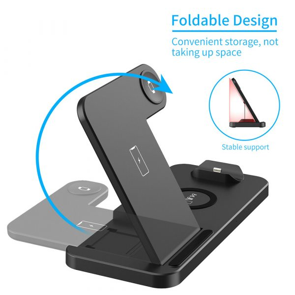 4-in-1 Wireless Fast Charging Desktop Charging Station for QI Devices_4