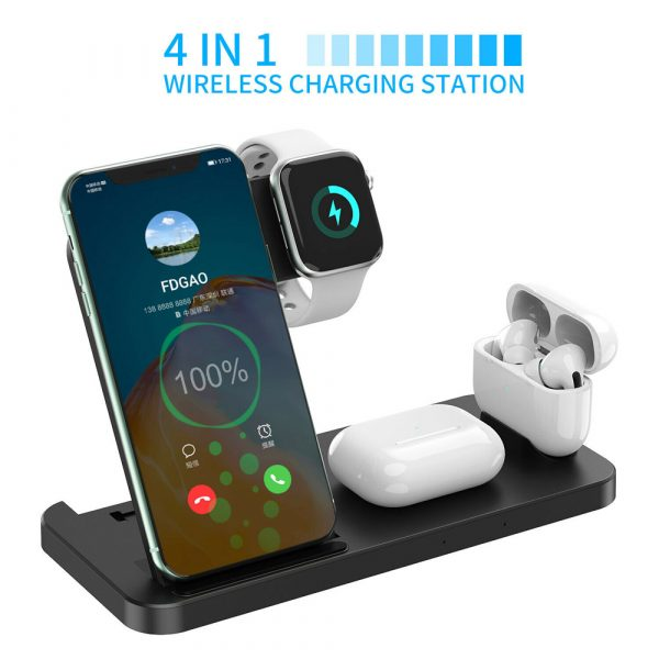 4-in-1 Wireless Fast Charging Desktop Charging Station for QI Devices_8