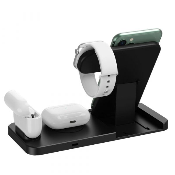4-in-1 Wireless Fast Charging Desktop Charging Station for QI Devices_9