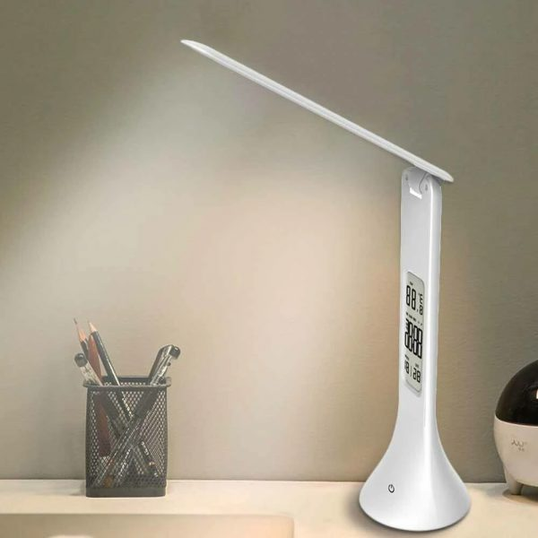 4-in-1 LED Mini Rechargeable Touch Dimmable Task Lamp with Clock_1