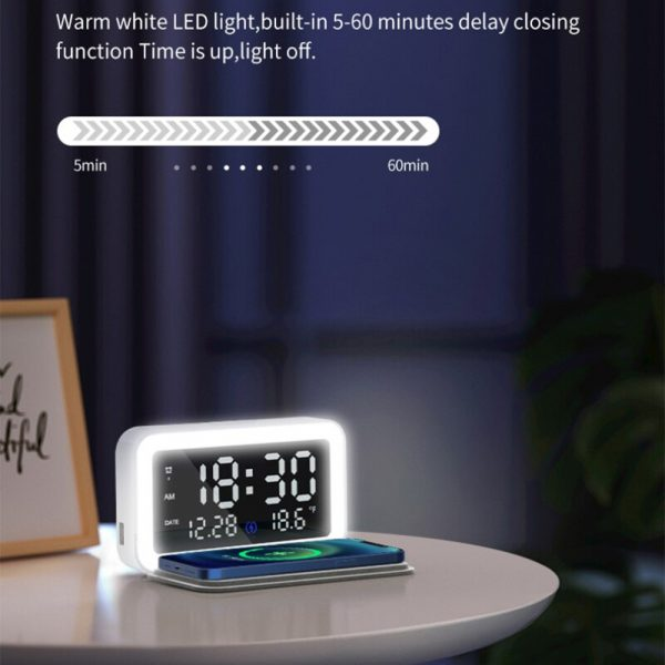 LED Digital Alarm Clock with Wireless Phone Charging Function_3