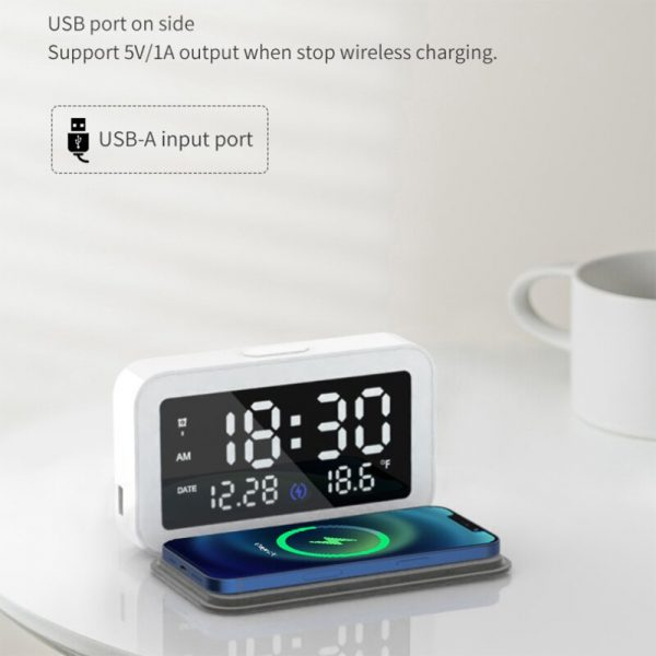 LED Digital Alarm Clock with Wireless Phone Charging Function_12