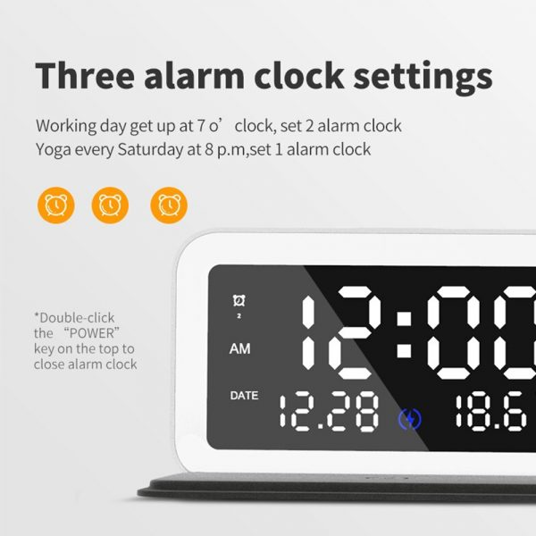 LED Digital Alarm Clock with Wireless Phone Charging Function_13