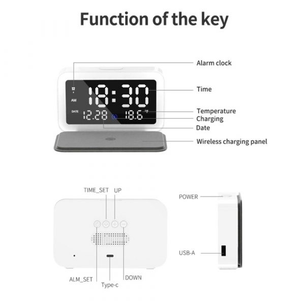 LED Digital Alarm Clock with Wireless Phone Charging Function_14