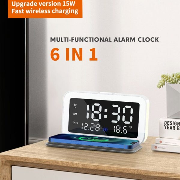 LED Digital Alarm Clock with Wireless Phone Charging Function_11