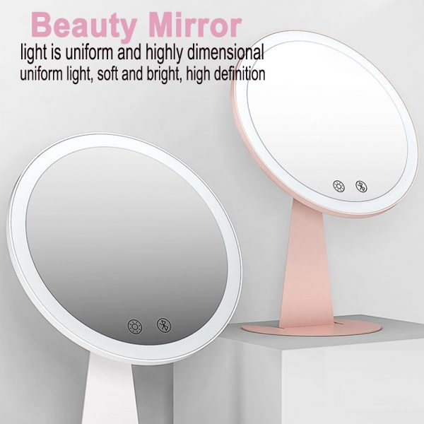 Professional Personal Makeup Mirror with Rechargeable LED Lights_3