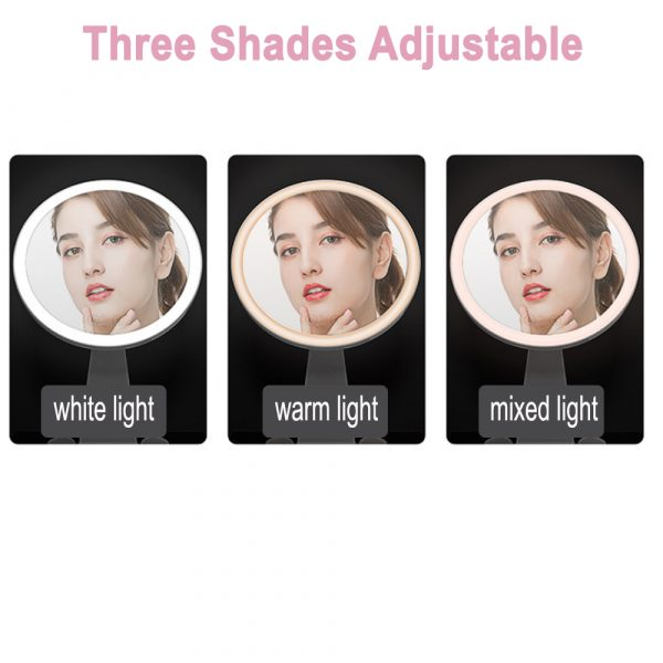 Professional Personal Makeup Mirror with Rechargeable LED Lights_5