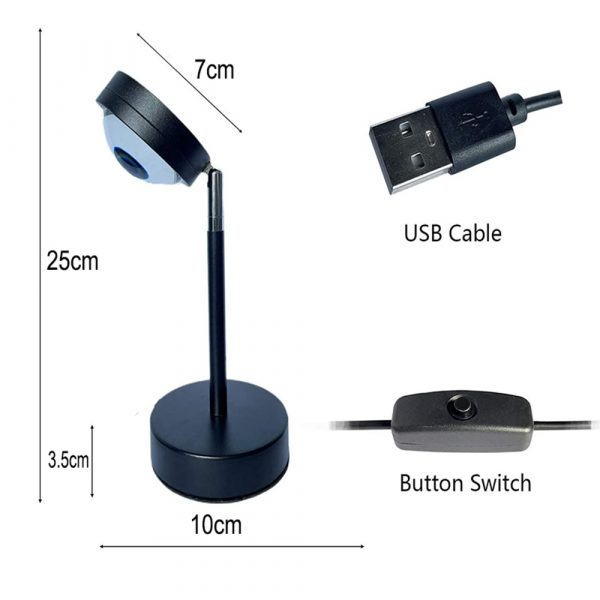 RGB Remote Controlled LED Sunlight Projector Room Decoration_7
