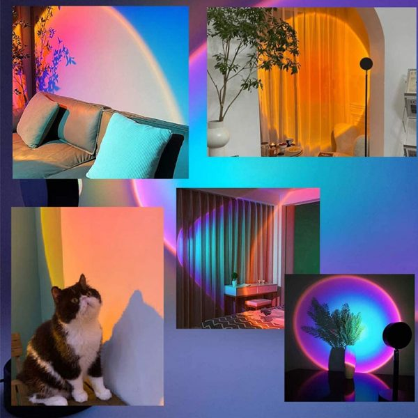 RGB Remote Controlled LED Sunlight Projector Room Decoration_8