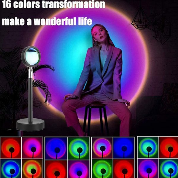 RGB Remote Controlled LED Sunlight Projector Room Decoration_9
