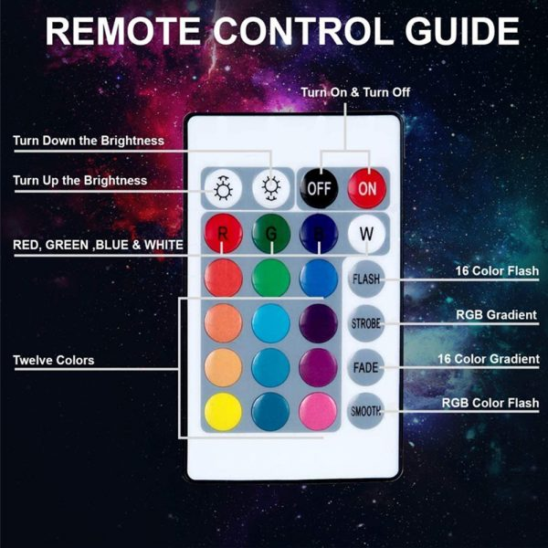 RGB Remote Controlled LED Sunlight Projector Room Decoration_11