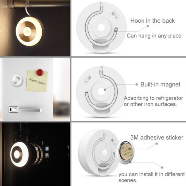 LED PIR Infrared and Motion Sensor Rechargeable Night Light_10