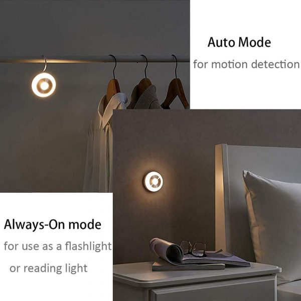 LED PIR Infrared and Motion Sensor Rechargeable Night Light_12