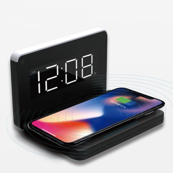 2-in-1 Foldable Wireless Charger for QI Devices and Digital Clock_1