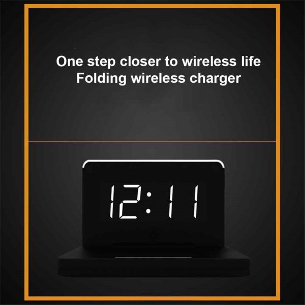 2-in-1 Foldable Wireless Charger for QI Devices and Digital Clock_2