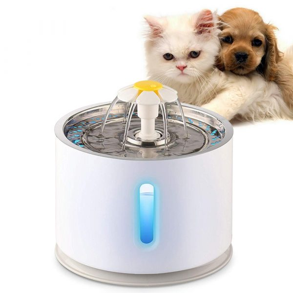 Automatic Pet Water Fountain with Pump and LED Indicator_0