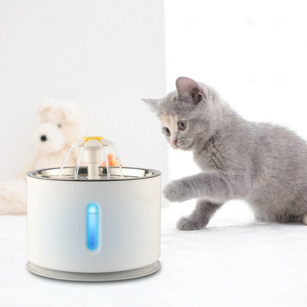 Automatic Pet Water Fountain with Pump and LED Indicator_2
