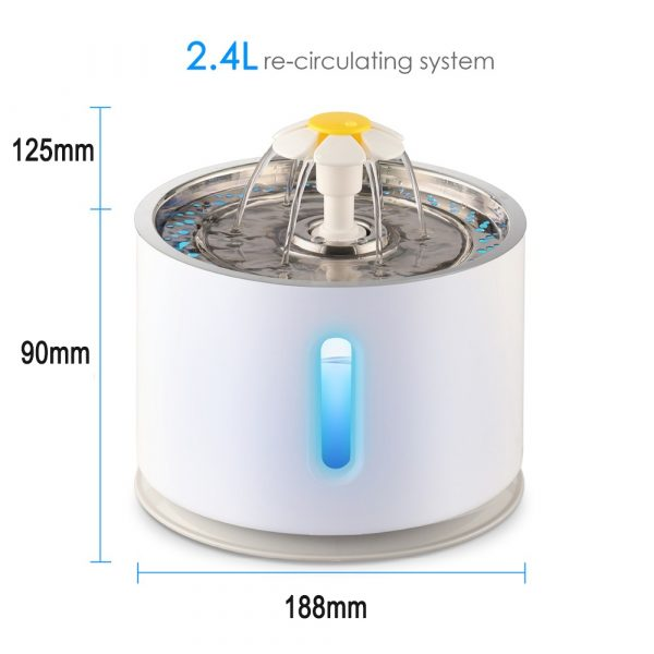 Automatic Pet Water Fountain with Pump and LED Indicator_7