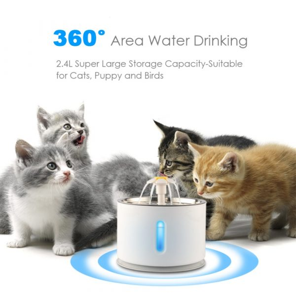 Automatic Pet Water Fountain with Pump and LED Indicator_9